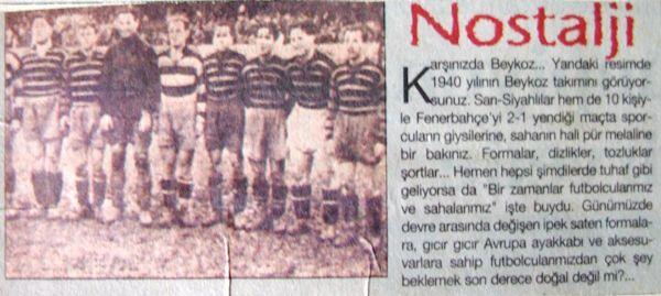 Fenerbahçe'yi 10 kişi ile yenmiştik