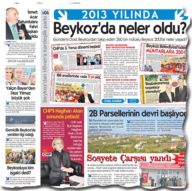 Beykoz'da 2014'de ne konuşuldu?
