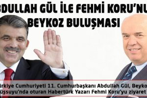 Abdullah Gül ile Fehmi Koru'nun Beykoz Buluşması