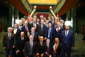 Cumhurbaşkanı Erdoğan Beykozlu muhtarları konuk etti