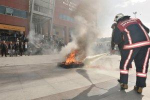 Beykoz Belediyesi'nde temsili yangın