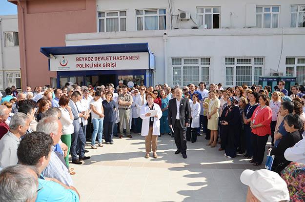 Beykoz Devlet Hastanesi'nde iş bırakma eylemi