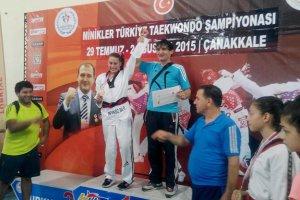 Beykoz'da bir minik şampiyon
