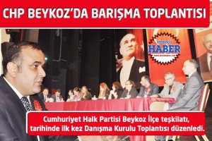 CHP Beykoz'da Danışma değil 'Barışma' toplantısı