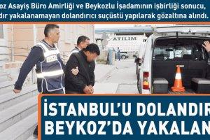 İstanbul'u dolandırdı, Beykoz'da yakalandı