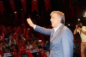 Beykoz'daki nöbete bir Cumhurbaşkanı geldi