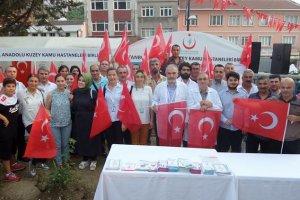 Beykoz Devlet Hastanesi personeli Kısıklı'da nöbetteydi