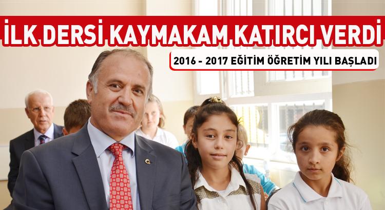 Beykoz'da ilk dersi Kaymakam Ahmet Katırcı verdi