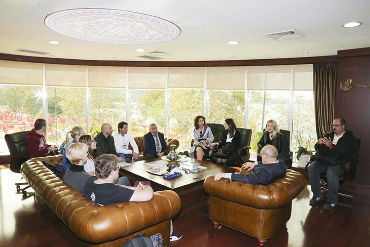 Erasmus temsilcileri Başkan Çelikbilek'i ziyaret etti
