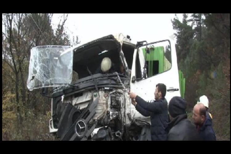 Beykoz Polonezköy yolunda kaza ucuz atlatıldı