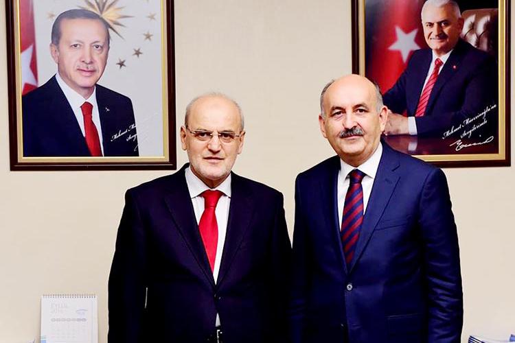 Çelikbilek Ankara'da Başbakan ve Bakanlarla görüştü