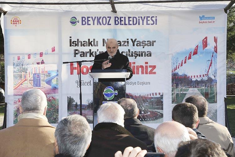 Beykoz Belediyesi İshaklı'ya park yaptı