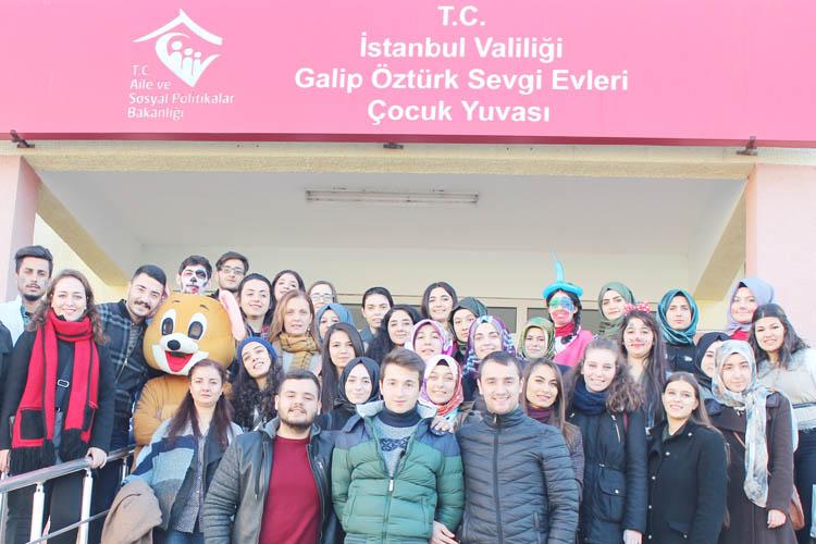 Diyaliz öğrencileri Beykoz'da sevgi evini ziyaret etti