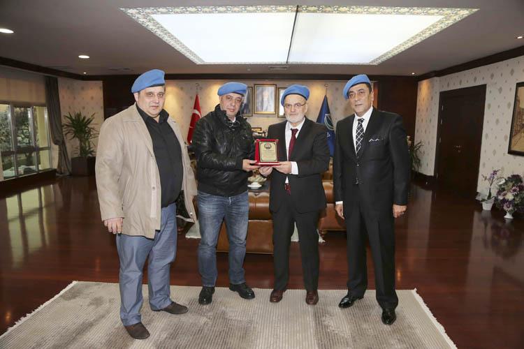 Mavi Bereliler, Başkan Çelikbilek'i ziyaret etti