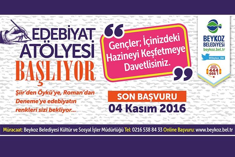 Beykoz'da Edebiyat Atölyesi başlıyor