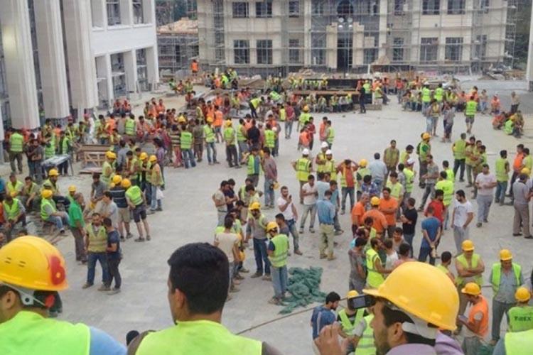 Beykoz'da bin inşaat işçisi iş bırakma eylemi yaptı