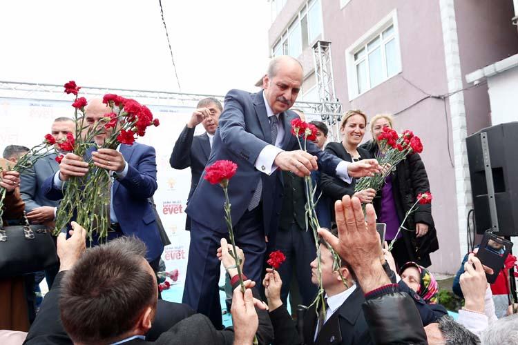Prof. Kurtulmuş Beykoz'da, 'evet oyları artıyor' dedi