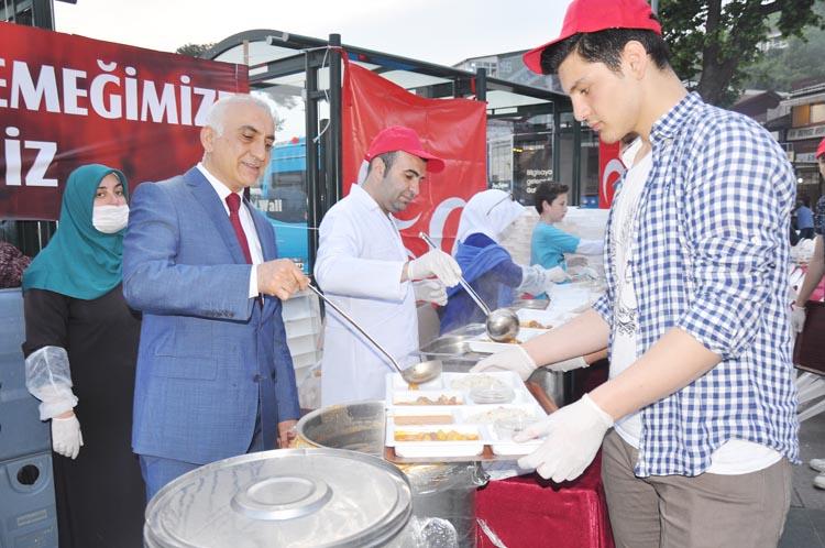 MHP Beykoz Yönetimi, Merkez'de iftar yemeği verdi