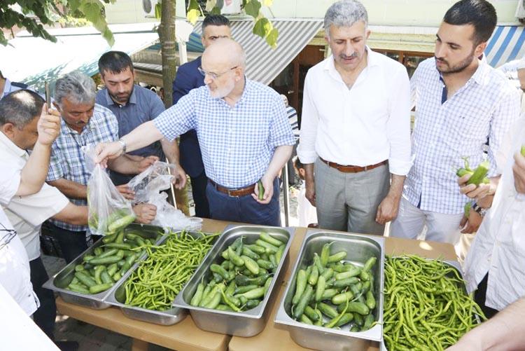 Beykoz Belediye Başkanı ücretsiz sebze dağıttı