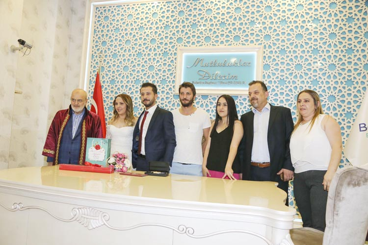 Beykoz'da 28 çift, 07.07.2017'yi tercih etti