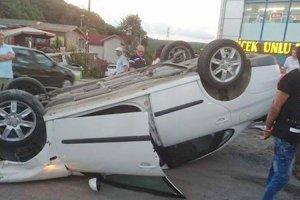 Beykoz'da kaza vatandaşa yol kapattırdı