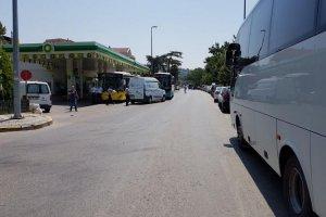 Beykoz'da trafik çift yönlü kapatıldı