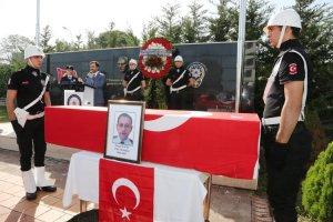 Beykoz'da vefat eden polis memuruna son görev