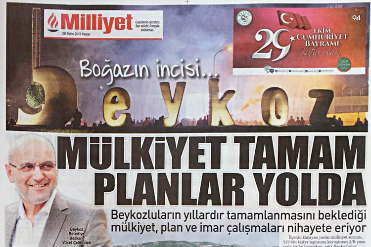 Beykoz, Türkiye'deki bütün evlere konuk oldu