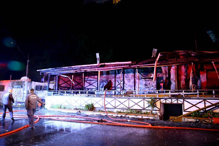 Beykoz Poyrazköy'de yangın
