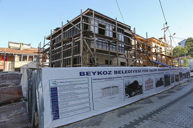 Beykoz'un 100 yıllık binası restore ediliyor