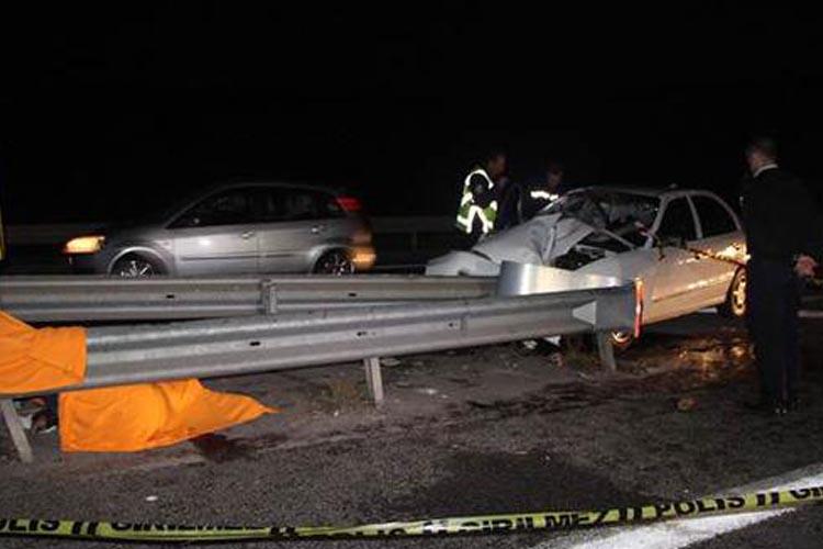 TEM Beykoz Kavacık Mevkii'nde kaza… 1 ölü