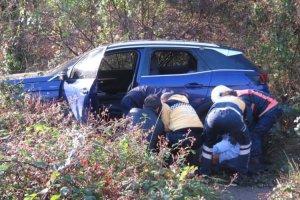 Beykoz'da araç uçuruma yuvarlandı... Bir ölü
