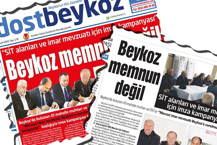 Beykoz'da yöre dernekleri SİT'te ayrı düştü