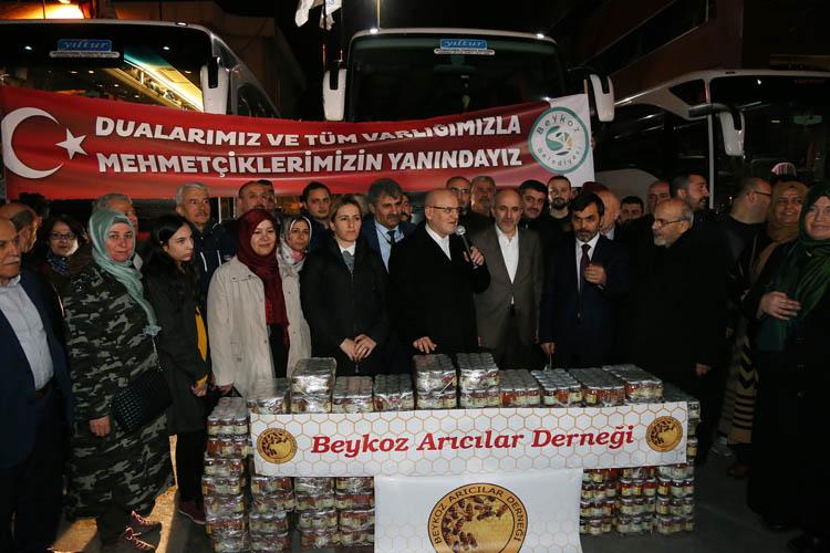 Beykoz'dan Zeytin Dalı Herekatı'na destek