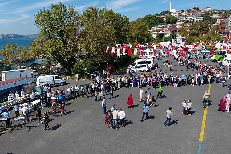 Beykoz'da denize karşı geleneksel balık festivali