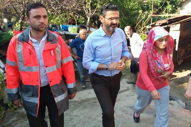 Beykoz'daki sel mağdurlarına İBB'den eşya yardımı