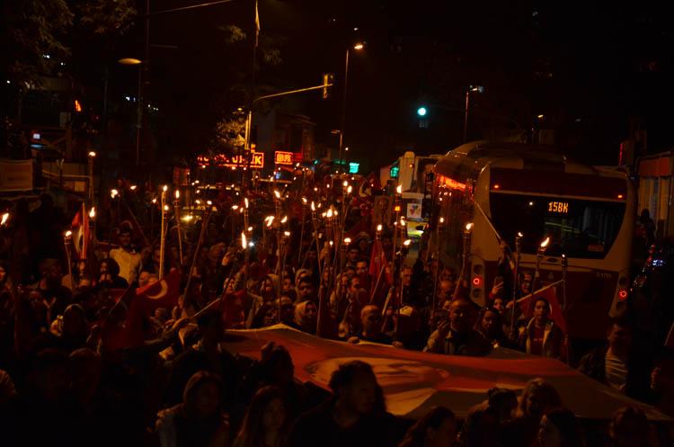 Beykoz'da Cumhuriyet Bayramı kortejle bitti