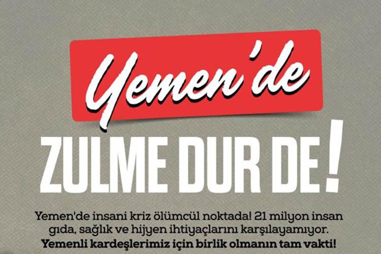 İHH Beykoz, Yemen zulmüne dur diyecek