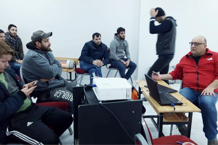 Riva Arama Kurtarma ekibi kendini eğitiyor
