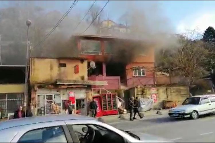Beykoz Kiremitdere Mevkii'nde konut yangını