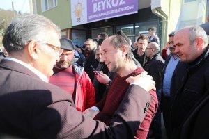 Beykoz Soğuksu'da davul zurnayla karşılandı