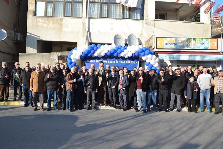 Saadet Partisi Beykoz'da 2. Seçim bürosunu açtı