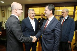 Beykoz Belediye Başkanı akademisyenleri ağırladı