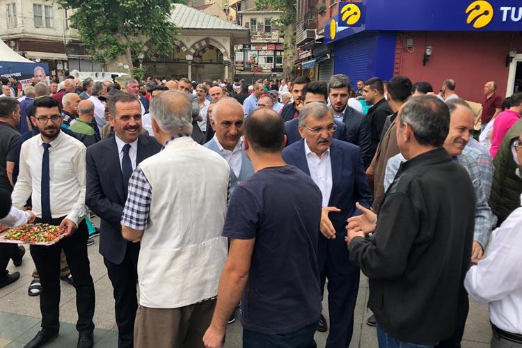 Beykoz'da bayramlaşma Merkez'de yapıldı