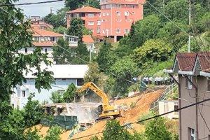 Beykoz Elmalı Mahallesi'nde kaçak yapı yıkımı