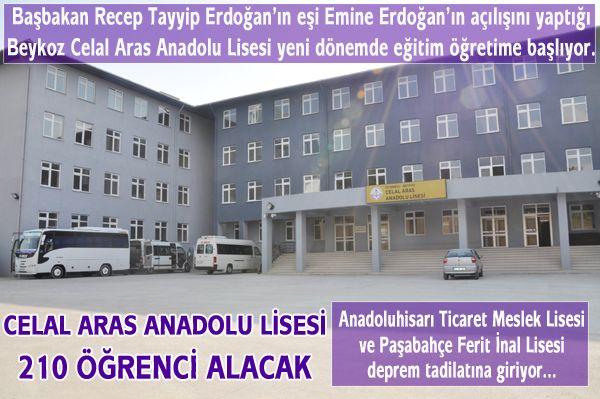 Celal Aras Anadolu Lisesi eğitime hazır