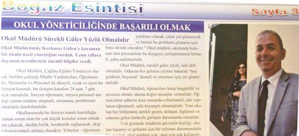 Bu okul gazetesi alkışlanır…