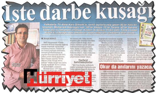 Muharrem Kaşıtoğlu HÜRRİYET'te