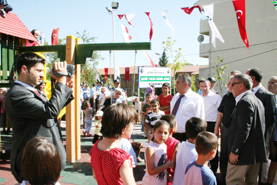 Şehit polis parkını meslektaşları açtı