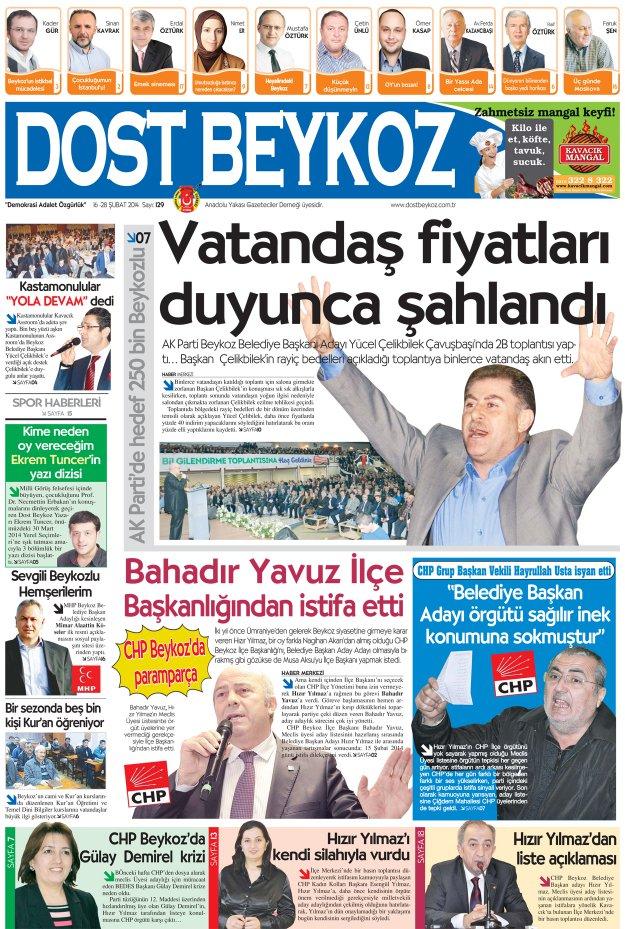 Dost Beykoz Gazetesi Şubat 2014/2 - 129. Sayı